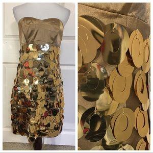 Express gold dress